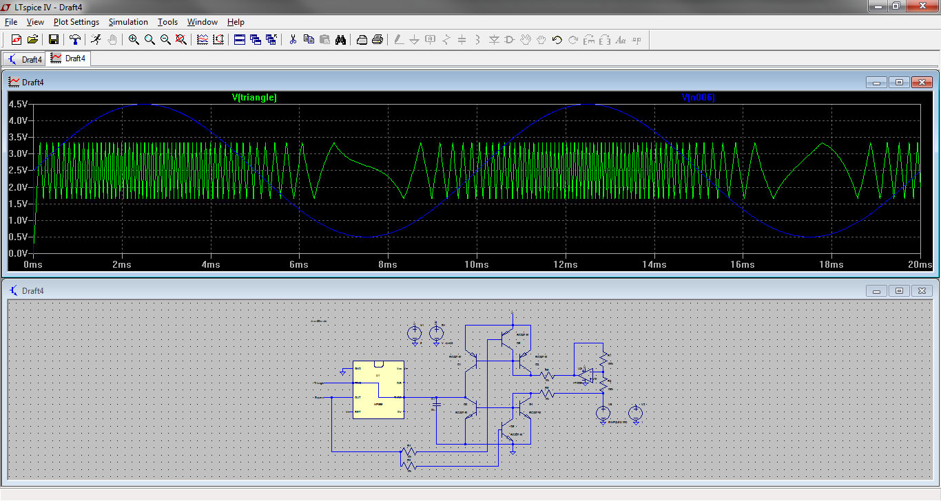 Designing A Triangle Square Wave Vco Part 1 Harris Electronics Triangular Waveform Using Schmitt Trigger As Can Be Seen The Control Voltage Is Sine And Frequency Of Changes With This