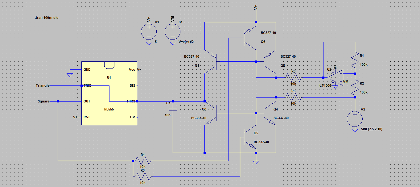 Designing A Triangle Square Wave Vco Part 1 Harris Electronics Voltagecontrolledoscillatorcircuitdiagram Trianglesqrvco