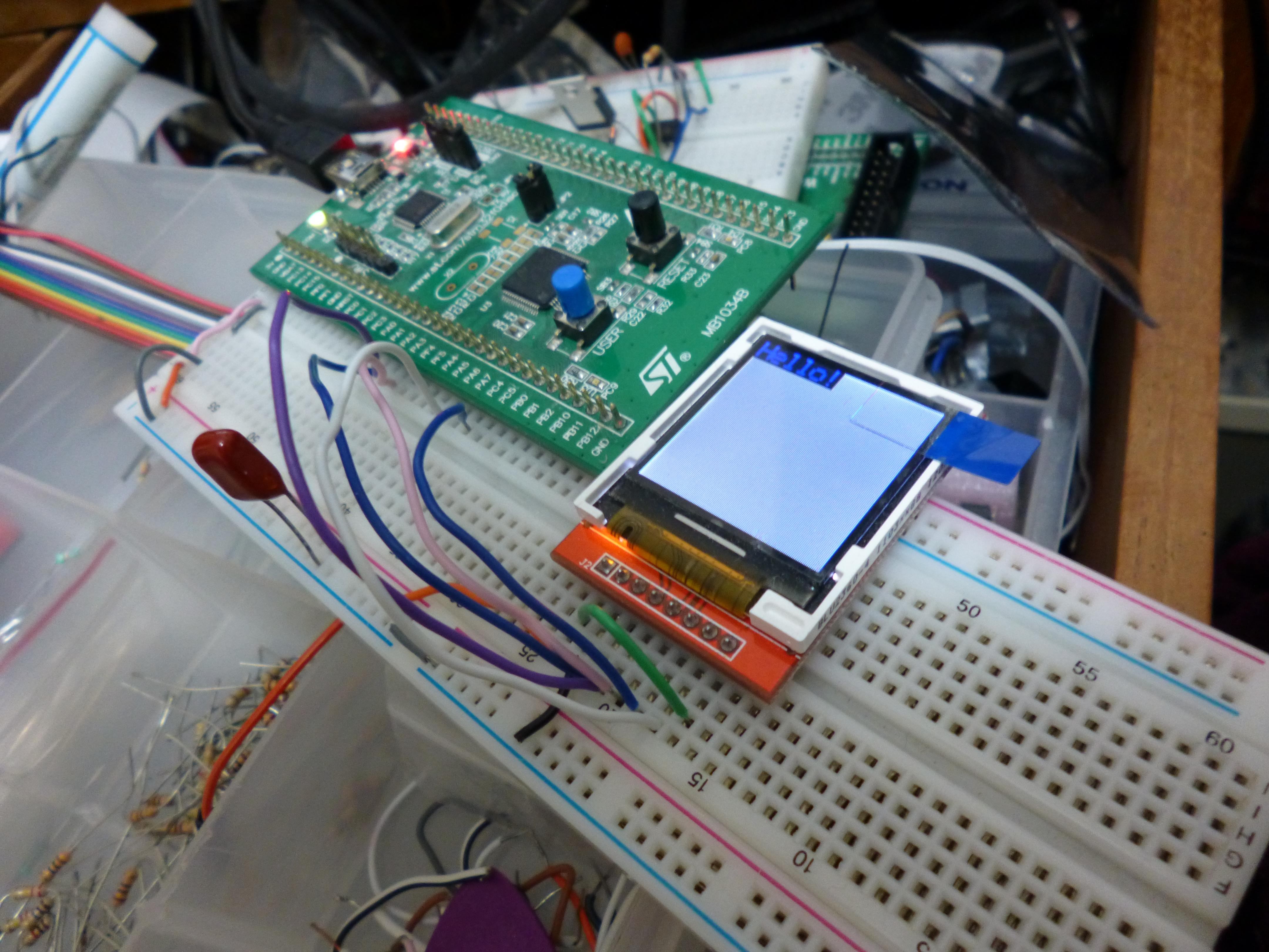 STM32F0 + ILI9163 LCD! – Harris' Electronics